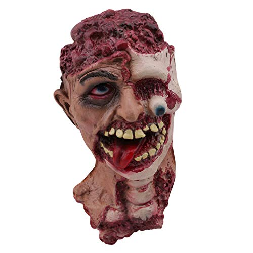 SEVENHOPE Halloween Terror Faul Zombie Kopf Tricky Requisiten Spukhaus ()