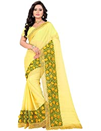 Riva Enterprise Chiffon Saree (Design Sarees_Yellow)