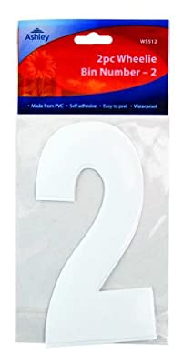 2 Pack Wheelie Bin Numbers - 2 : everything five pounds (or less!)