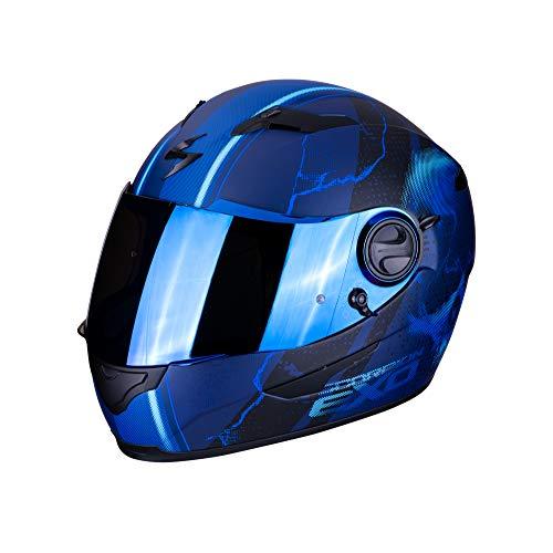 Scorpion 49-284-22-04 Motorrad Helm, Blau, M