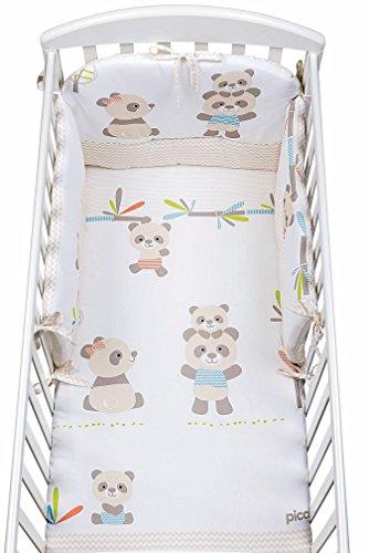 Completo Piumone Stampato Picci BoBo set 3pz Cod. PC511009 Bianco Sabbia