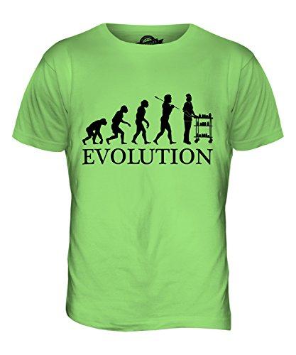 CandyMix Krankenschwester Evolution Des Menschen Herren T Shirt Limettengrün