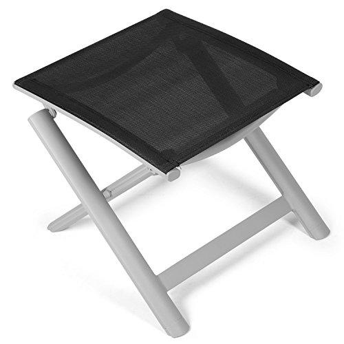 Vanage Alu Hocker in schwarz - klappbarer Fußhocker - Klapphocker - Sitzhocker - Klappstuhl für...