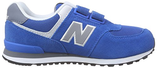 New Balance 483650-41, Baskets Basses Garçon Bleu (Blue/Grey)