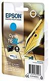 Epson Original T1632 Tintenpatrone Füller, wisch- und wasserfeste Tinte XL (Singlepack) cyan Test