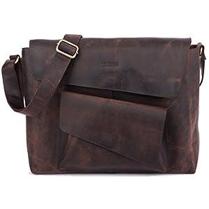 41p0xi8UFfL. SS300  - Leabags Netanya - Maletín portadocumentos (Piel de búfalo, Aspecto Vintage), Color marrón