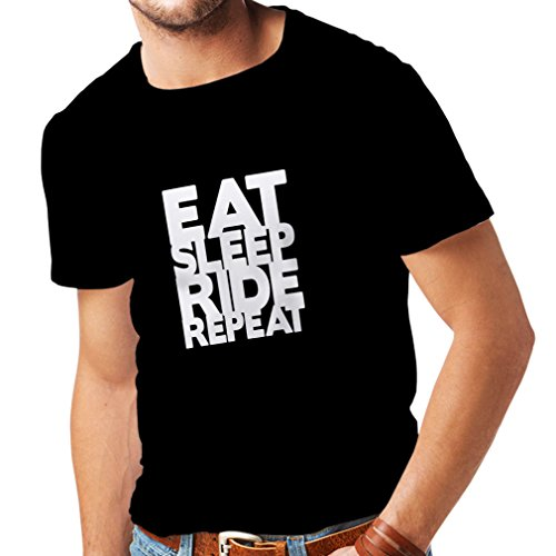 T Shirts for Men Eat Sleep Ride Repeat - for Bikers - Cool Bike Quotes, Motorbike Sayings