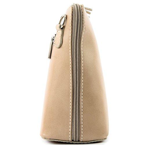 modamoda de -. borsa in pelle ital piccole signore borsa tracolla bag Città bovina T94 Braunbeige