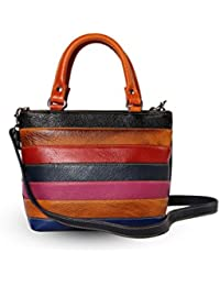 Multi Colored Sling- Hand Bag (Color- BROWN)