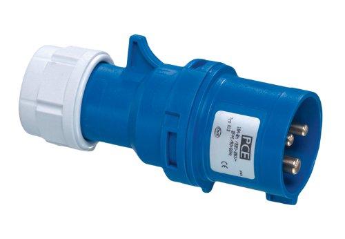 Preisvergleich Produktbild REV CEE GERÄTESTECKER 3-polig 16A 230V~ – Made in Europe  CEE Stecker für Industrie Handwerk Boot Camping Caravan  spritzwassergeschützt IP44  Farbe: blau