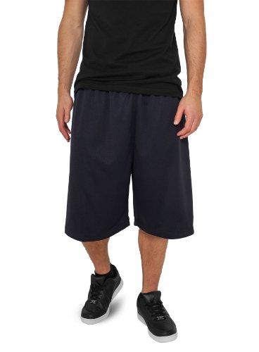 Urban Classics - Urban Classics BBall Mesh Pantaloncini with Pockets, Pantaloncini da uomo, blu (navy), M