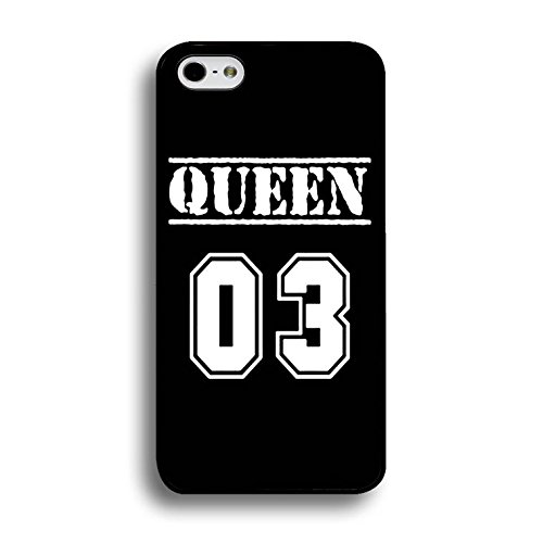Couples Case for Iphone 7 Plus Lovely Stylish King Queen Phone Cases Fashion Hard PC Cover for Iphone 7 Plus Shell Color225d