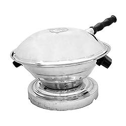 Ojas Aluminum Bati Maker And Tandoor Baking Oven, 22 cm x 17 cm x 30 cm, 1 Piece, Silver
