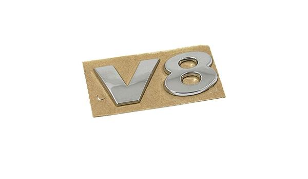 Original V8 Schriftzug Hinten Heckklappe Emblem Logo Chrom Auto