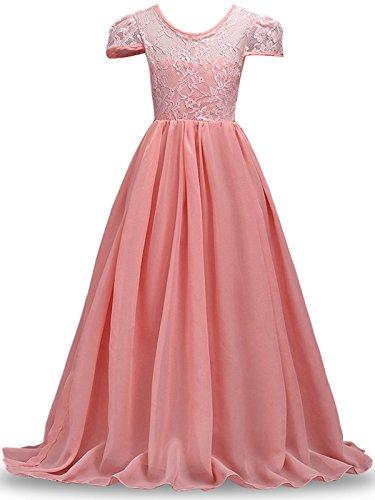 VEVESMUNDO Sommer Kinder Baby Prinzessin MädchenKleider Brautjungfern Spitzen Kleider Hochzeit Party Festliches Kleid Festzug Gr 120-170cm (170CM(Körpergröße 160-169cm/14-15 Jahre Alt, (Kleider Jahre 11 Alt)