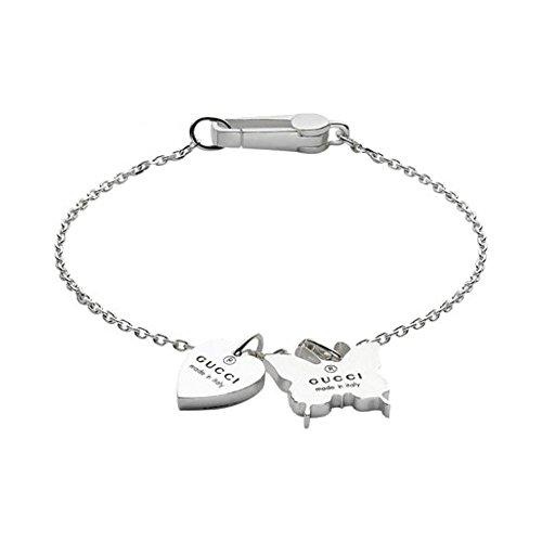 Gucci Manschette Armband Schmetterling Marke YBA223516001 neu