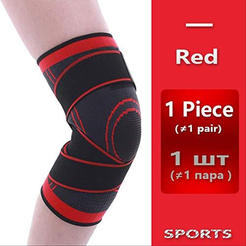 RTGFS Knie Unterstützung Professionelle Schutz Sport Knie Pad Atmungsaktive Bandage Knieorthese Basketball Tennis Radfahren XXL Rot (Für Arthritis Knieorthese Xxl)