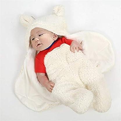 Miyanuby Saco de Dormir para Bebés, Suave y Cálido Franela de Invierno Sacos para dormir Niña y Niño, Manta para Bebé Recién Nacido 0 a 6 Meses