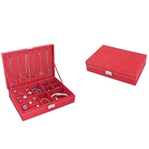 3-schicht-hochzeits-ring (Leder Locking Schmuck Aufbewahrungsbox Schmuck Make-Up Box Hochzeit Geburtstagsgeschenk,#3)