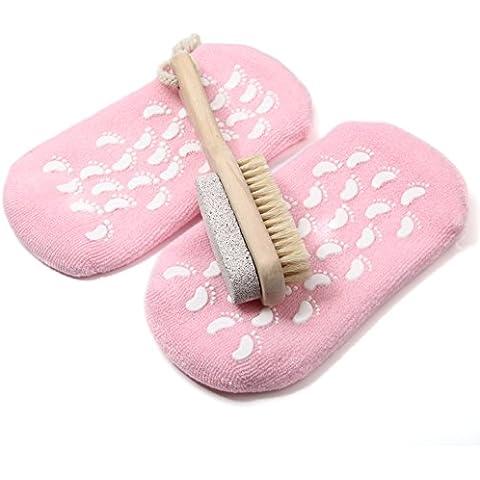 KingOfHearts™ Pedicure 2-in-1 Foot Care Set, setola naturale Piedi Doccia Detergente bagno dell'impianto di lavaggio (Piede Cuticola Rimozione)