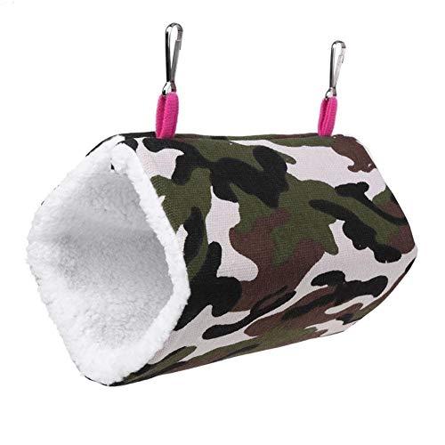 iuNWjvDU Heimtierbedarf Camo Haustier-Vogel-Ratte Bett Tunnel Haus Nest Spielzeug Bettwäsche für Hunde, Katzen, Haustiere Tiere Hanging