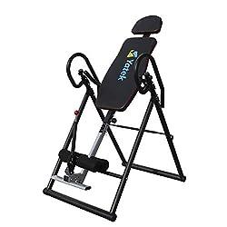 Yatek Inversionsbank, Schwerkrafttrainer klappbar Modell ECO für Zuhause mit vollständiger Inversion zur Entlastung der Wirbelsäule, Rückentrainer unterstützt bis zu 150 kg