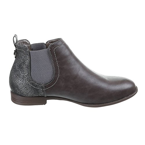 Chaussures, pa, bottines 790 Gris - Gris