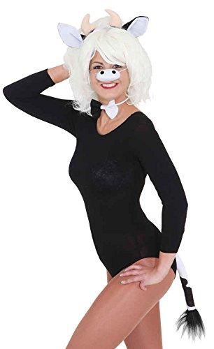 Nase Kuh Kostüm - Zubehör zum Kostüm Kuh Ohren Nase Schleife Schwanz Karneval Fasching