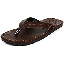 Buwch Mens Dark Brown Slipper-9Uk