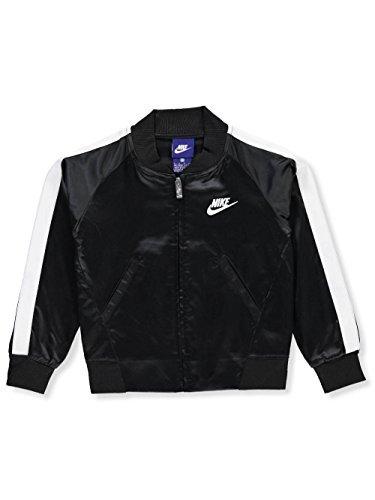 NIKE Girls' Flight Jacket - Black, 6