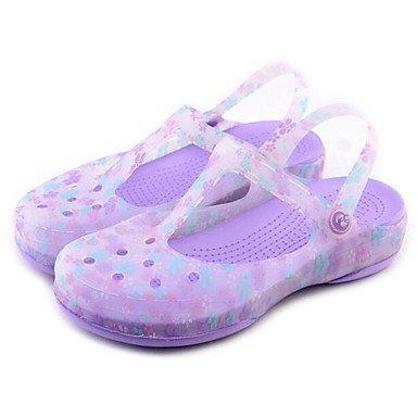 zhENfu Donna Sandali Comfort scarpe Foro per molla di Silicone Casual Azzurro arrossendo luce rosa viola Flat Light Purple