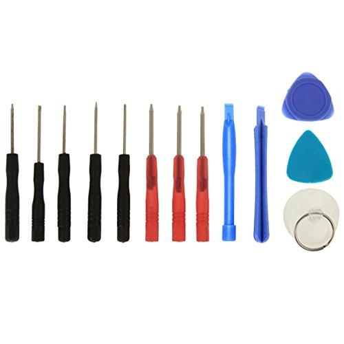 wortek 13 in 1 Universal Reparatur Werkzeugset Set Display für Smartphones, Handys, PCs, Konsolen, Tablets, eReader & eBooks
