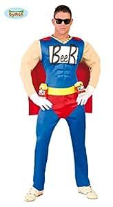 Beerman Superheld Herren Kostüm Gr. M/L, Größe:L