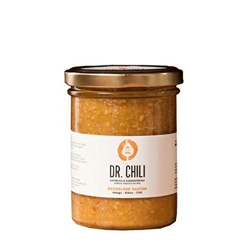 Dr. Chili Scharfe Chili Hot Sauce Paste (195ml) Asia Soße aus Habanero Chilli scharf Mango Kokos - für BBQ Burger Salsa Currywurst Barbecue