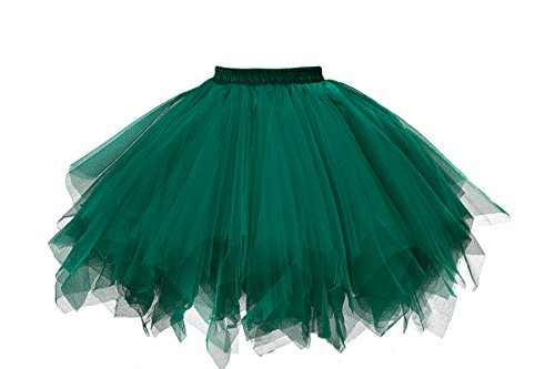 MuseverBrand 50er Vintage Ballet Blase Firt Tulle Petticoat Puffy Tutu Army Green Small/Medium