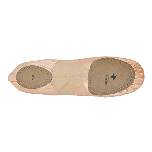 Starlite Flexi raso Ballet Shoes, Split Sole Rosa