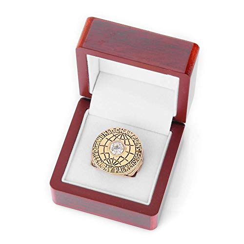 GJJ Europa und Amerika Herrenringe, Green Bay Packers Super Bowl Championship Ringe Alloy Ring für Boyfriend Sammlerstück mit Box 1966 Größe: 11 -