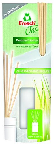 Frosch Oase Raumerfrischer Zitronengrasfrische Nachfüllpack, 2er Pack (2 x 90 ml) - Sinnlich Duftendes Bad