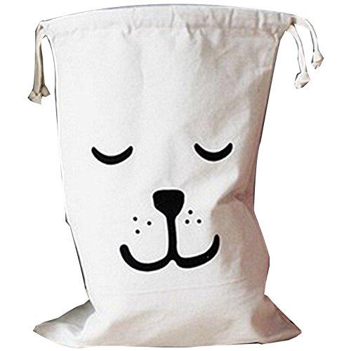 Preisvergleich Produktbild TOMATO-smile Baumwolle Leinwand Lagerung Müllbeutel Kinder Spielzeug Tasche Kids Cartoon Organisatoren Box Plus Größe (Schlafen)
