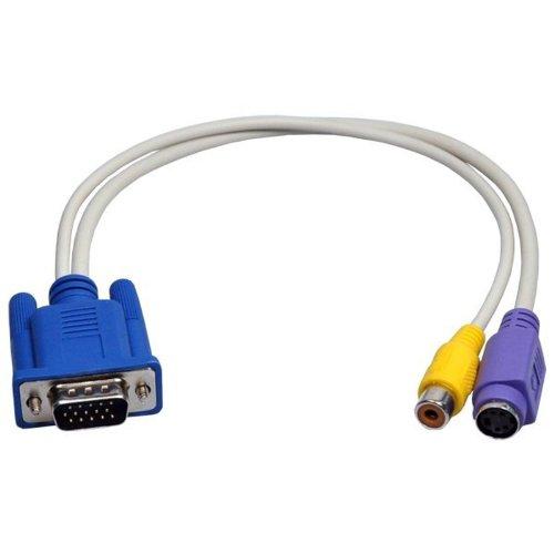 2-TECH Adapterkabel VGA-Stecker auf S-Video+ Cinch -