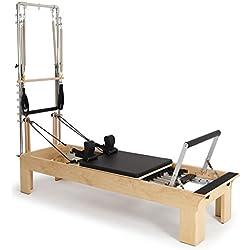 ELINA PILATES. Reformer DE Madera FISIO con Torre - Máquina Pilates para Profesionales. Reformer desarrollado por técnicos Expertos en Pilates de Todo el Mundo