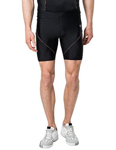 Ultrasport Rainbow - Pantalones Cortos Deportivos de comprensión para Hombre, Color Negro, Talla XXL
