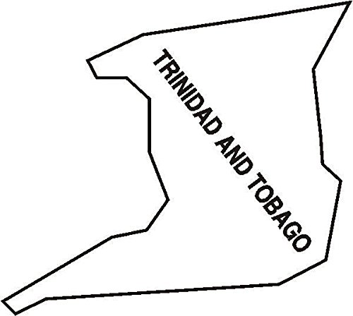 PEMA INDIGOS UG - Wandtattoo Wandsticker Wandaufkleber Aufkleber M095 Landkarte Trinidad and Tobago 120 x 107 cm Farbwahl 48 Farben