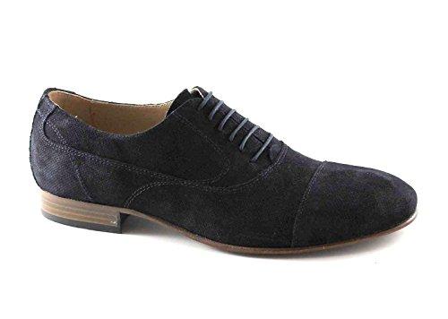 BLACK JARDINS 4870 chaussures bleues homme lacé lacets orteil élégant Blu