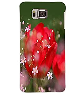 PrintDhaba Flowers D-2279 Back Case Cover for SAMSUNG GALAXY ALPHA (Multi-Coloured)
