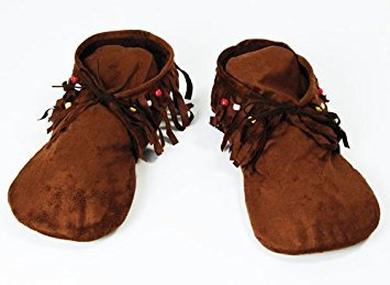 Adulte Fancy Party Dress - Womens Fabric Moccasin Style Shoes Indian Hippy
