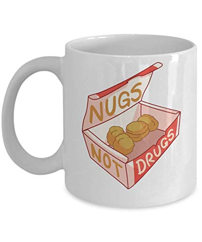 TEPEED Nugs Not Drugs Coffee Mug Cup (White) 11oz Funny Chicken Nugget Accessories Gifts Merchandise...