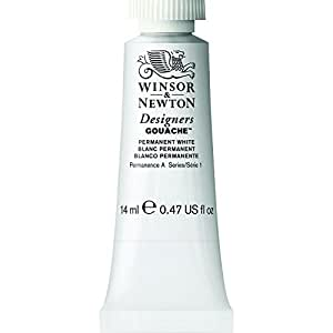 Winsor & Newton Designers Gouache Tube, 14 ml - Permanent White