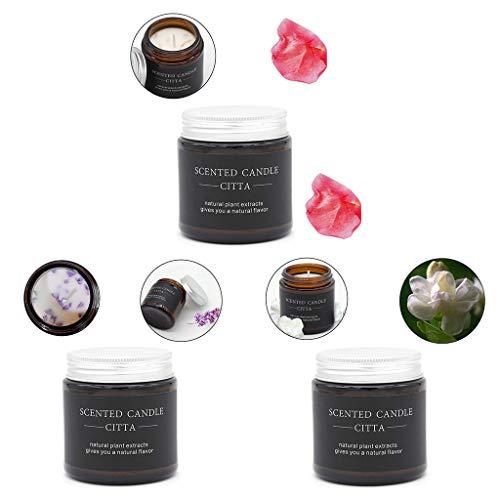 Duftkerze Set Aroma Kerzen Stück Geschenkset, Für Bad Geburtstag Yoga Jahrestag Und Damen Geschenke, Bad- Und Körperarbeiten Große Docht-Duftkerze