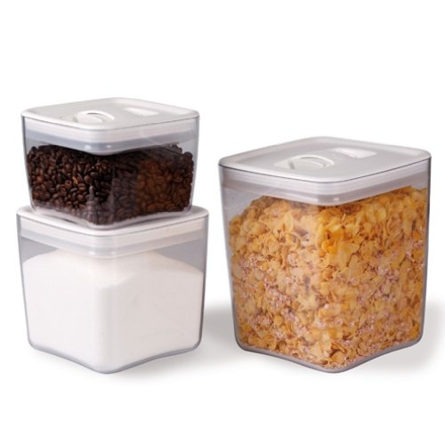 ClickClack Cube Storage Container Set of 3, 1, 2, and 3-1